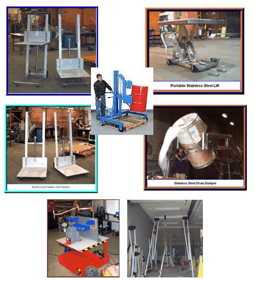 Custom work for jib cranes and machinery